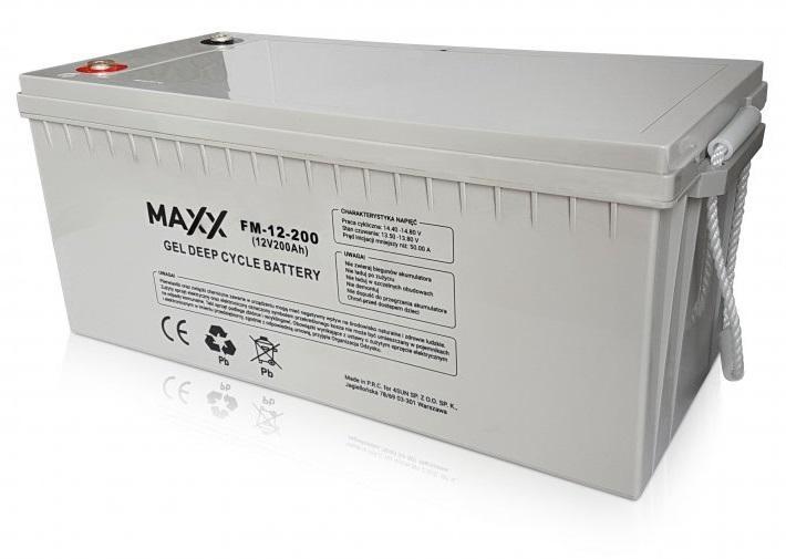 Image of Akumulator maxx 200ah do paneli fotowoltaicznych - możliwość montażu - zadzwoń: 34 333 57 04 - 37 sklepów w całej polsce