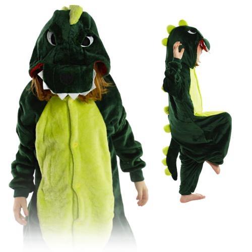 Image of Kigurumi onesie piżama kigu dla dzieci dinozaur