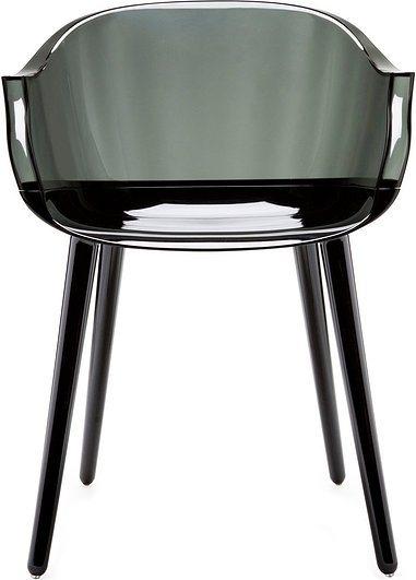 Krzesło cyborg couplings siedzisko czarne oparcie przydymione