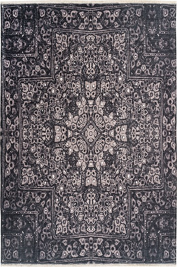 Image of Dywan azteca 75 x 150 cm szary