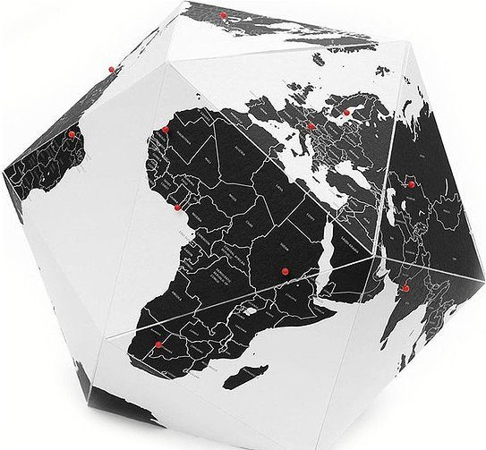 Image of Dekoracja here the personal globe countries l
