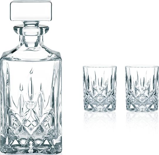 Image of Karafka do whisky lub brandy noblesse ze szklankami 3 el.