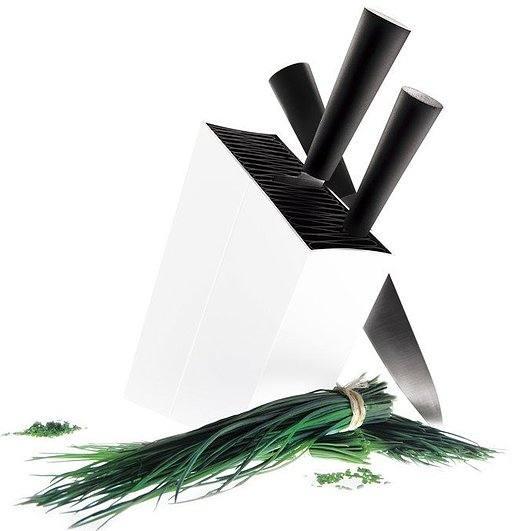 Image of Blok na noże ukośny eva solo biały