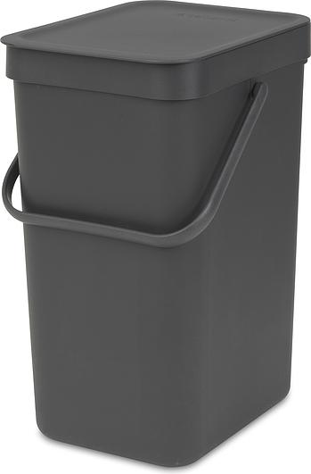 Image of Kosz do segregacji odpadów sort & go 12 l szary