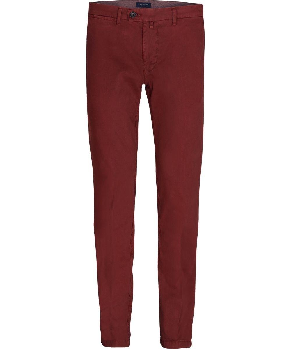 Image of Męskie spodnie typu chino bordowe 48