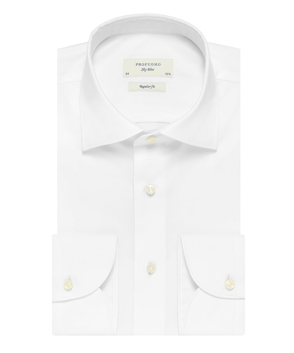 Image of Biała klasyczna koszula męska (regular fit), na guziki 37