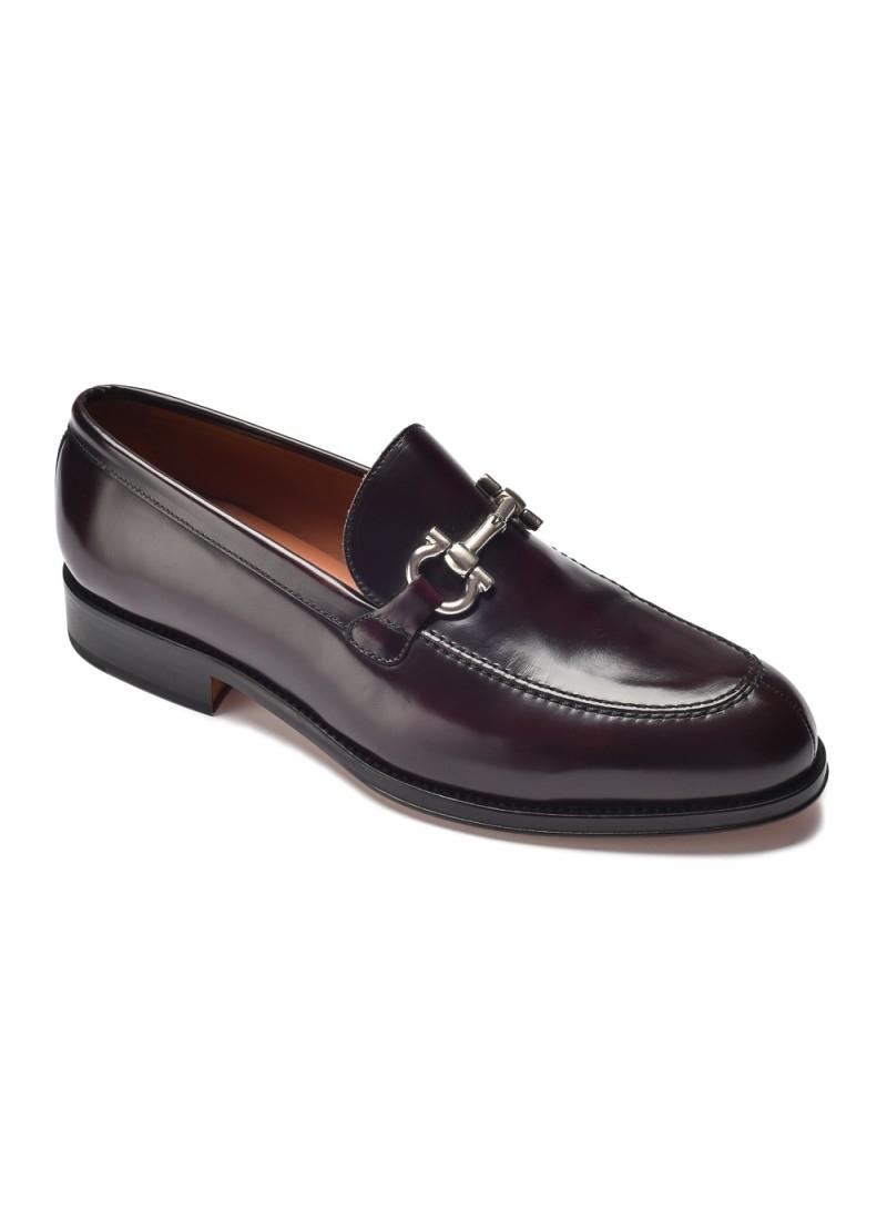 Image of Bordowe buty mokasyny a.leyva 6,5