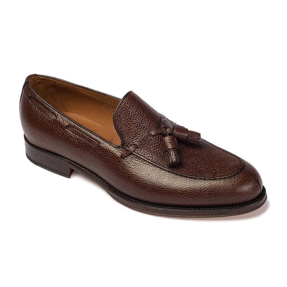 Image of Brązowe loafery a.leyva z groszkowej skóry 6,5