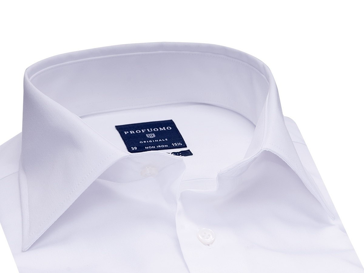 Image of Elegancka biała koszula męska (normal fit), 37