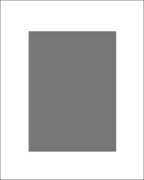Image of Passe-partout białe 30x40 cm