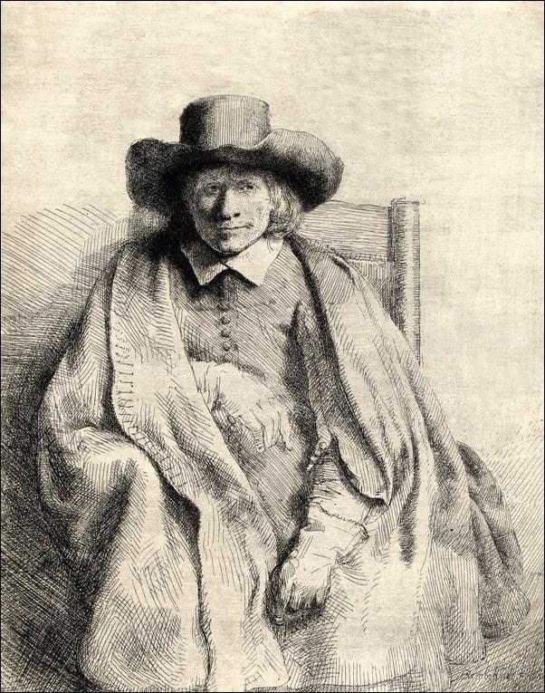 Image of Clement de jonghe, rembrandt - plakat wymiar do wyboru: 70x100 cm