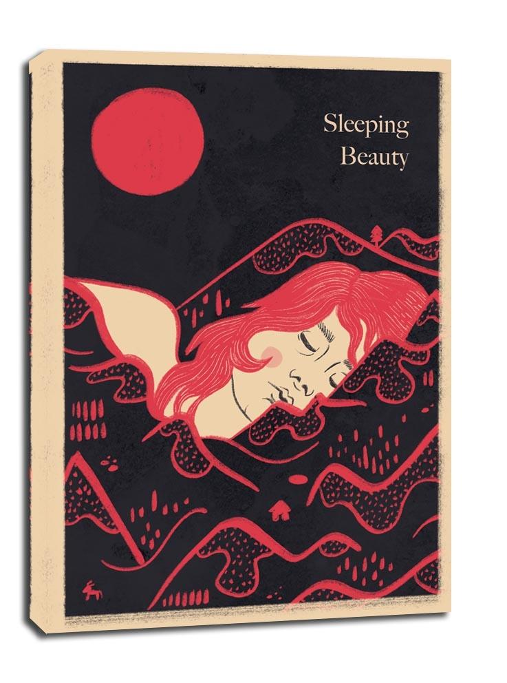 Image of Śpiąca królewna wersja angielska - obraz na płótnie wymiar do wyboru: 30x40 cm