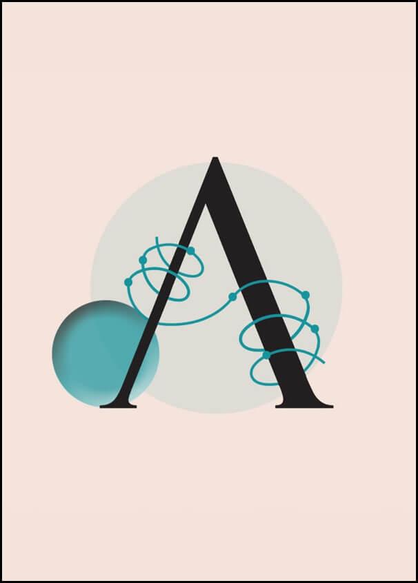 Image of Litera a - plakat wymiar do wyboru: 50x70 cm