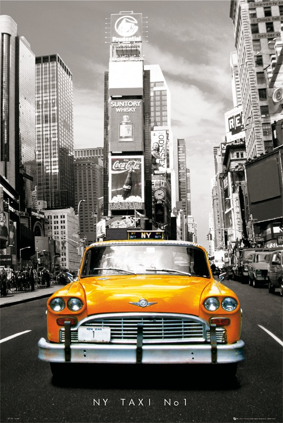 Image of Nowy jork - taxi no 1 - plakat