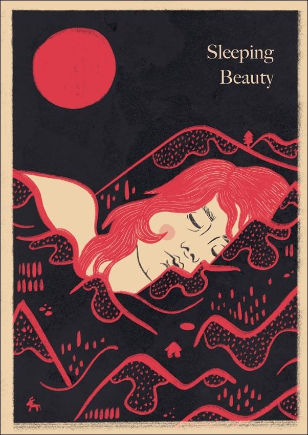 Image of Śpiąca królewna wersja angielska - plakat wymiar do wyboru: 70x100 cm