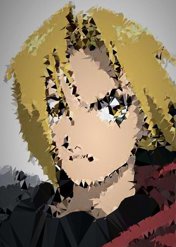 Image of Polyamory - edward, fullmetal alchemist - plakat wymiar do wyboru: 30x40 cm