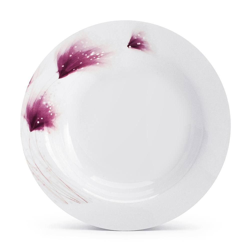 Image of Komplet talerzy porcelanowych ceramika tułowice rosato nbc biały na 6 osób (18 el.)