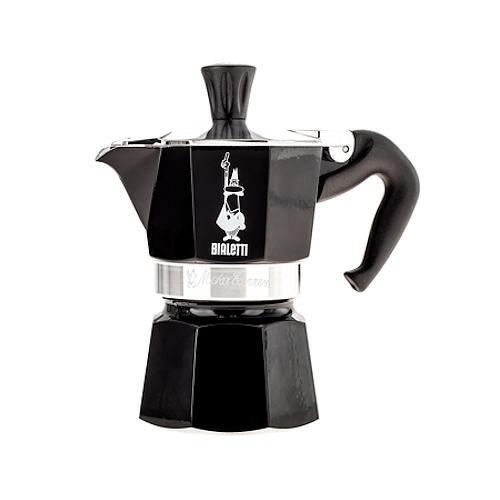 Image of Bialetti moka express 1 filiżanka espresso czarna - włoska kawiarka aluminiowa ciśnieniowa