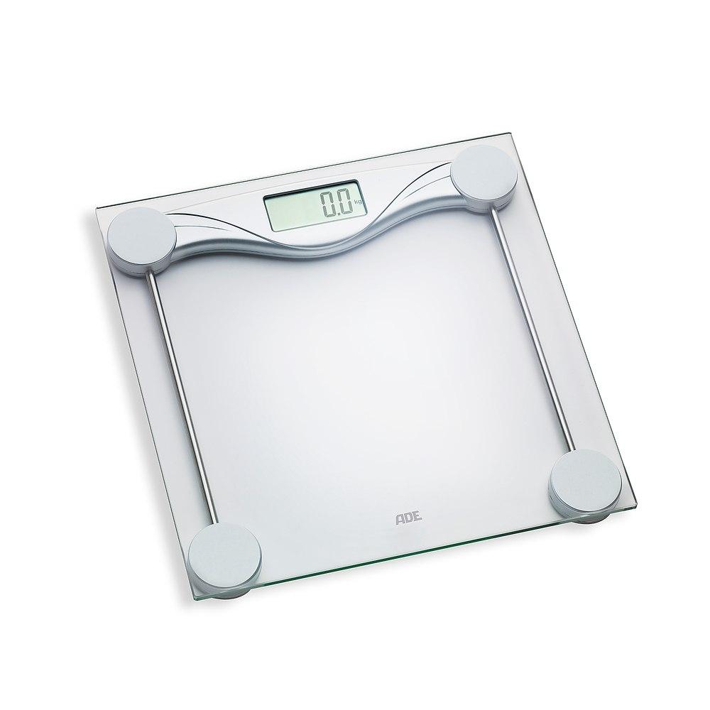 Image of Waga łazienkowa elektroniczna szklana ade olivia 28 x 28