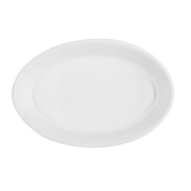 Image of Lubiana backen 35 cm białe - naczynie żaroodporne do zapiekania ceramiczne