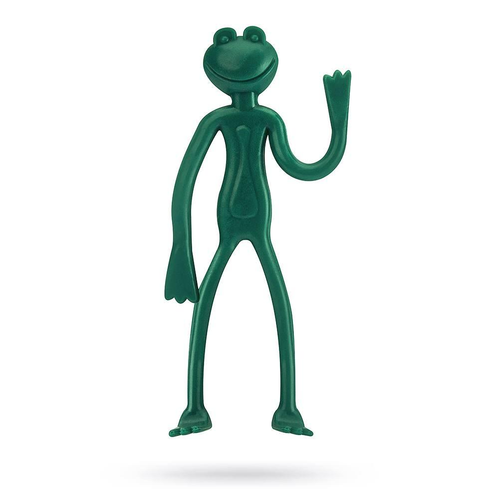 Image of Spinki ogrodowe z tworzywa sztucznego żabki zielone 2 szt.