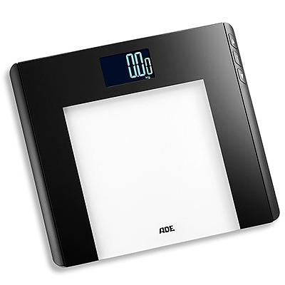 Image of Ade linette czarna 33 x 30 cm - waga łazienkowa elektroniczna szklana obliczająca wskaźnik bmi