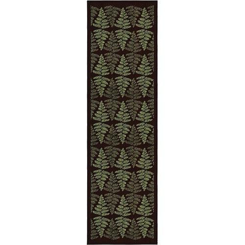 Image of Bieżnik na stół bawełniany ekelund fern czarny 35 x 120 cm