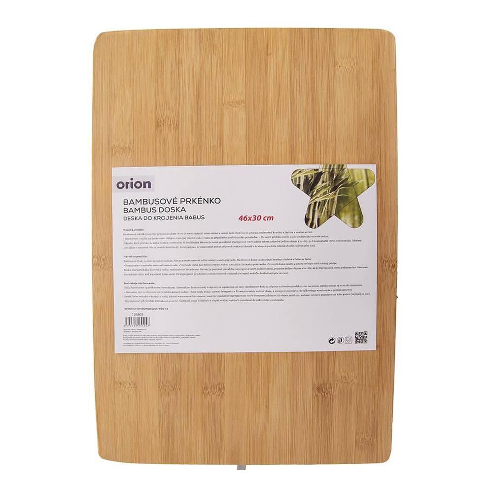Image of Deska do krojenia bambusowa thick board brązowa 46 x 30 cm