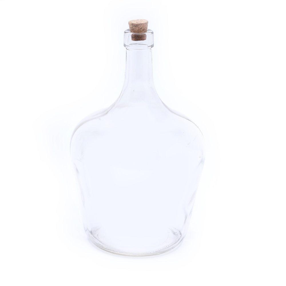 Image of Butelka szklana z korkiem pear 2 l