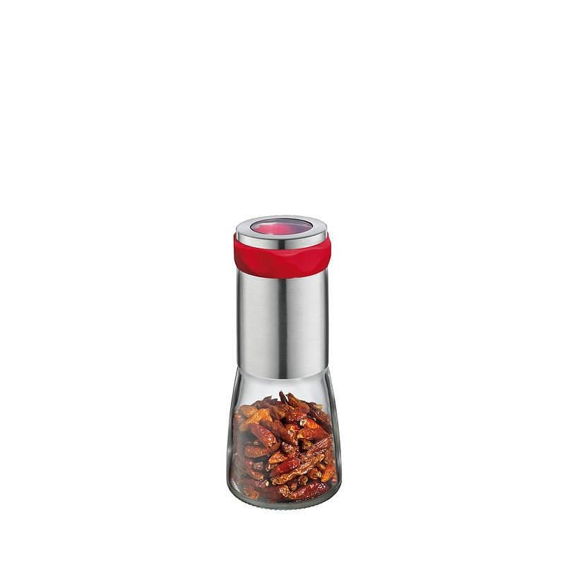 Image of Młynek do chilli stalowy cilio piccante czerwony 14,5 cm