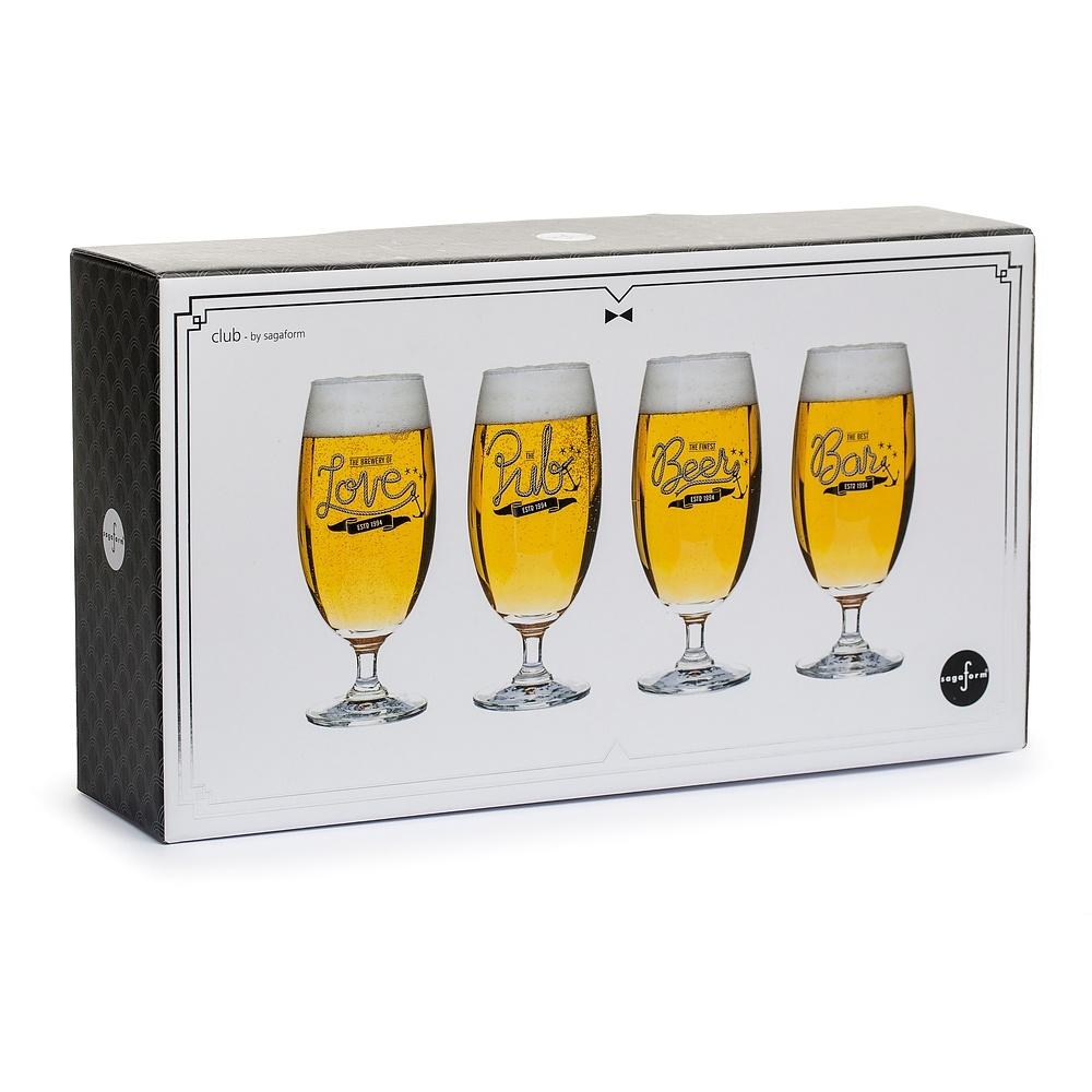 Image of Pokale do piwa szklane sagaform club 420 ml 4 szt.