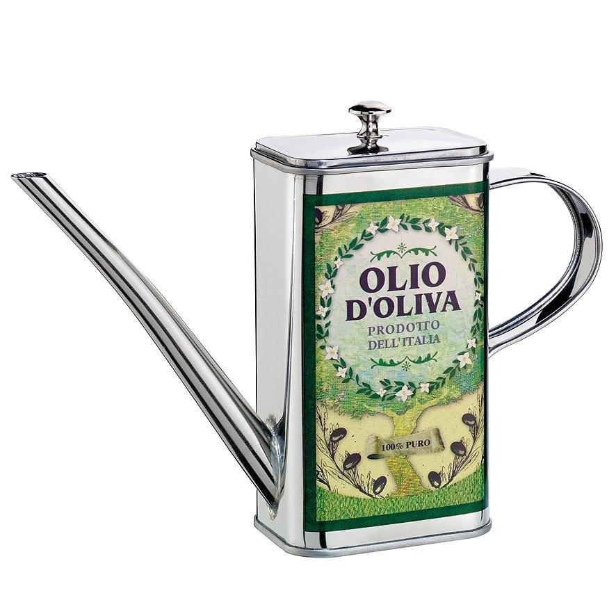 Image of Butelka na oliwę stalowa cilio olio-verde zielona 0,5 l