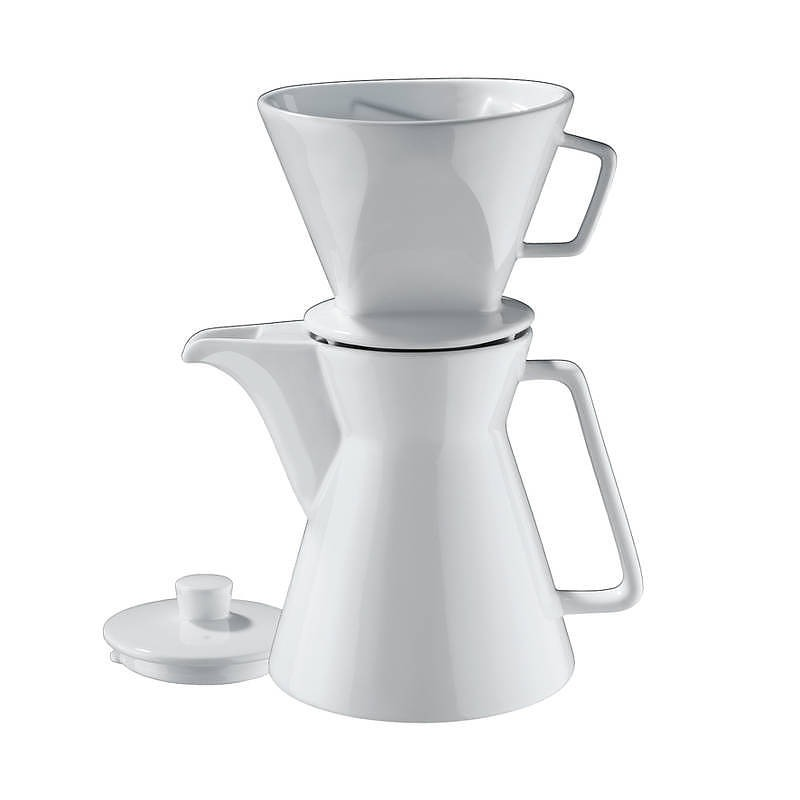 Image of Dripper do kawy z dzbankiem porcelanowy cilio vienna