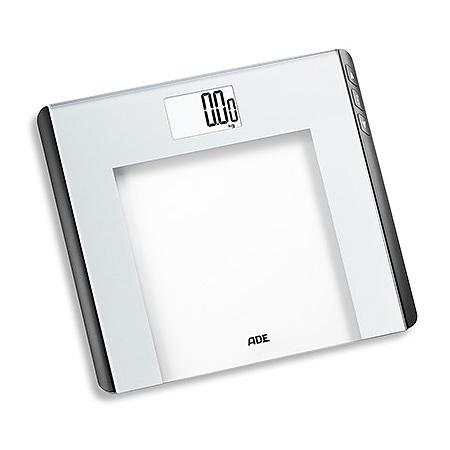 Image of Ade linette biała 33 x 30 cm - waga łazienkowa elektroniczna szklana obliczająca wskaźnik bmi