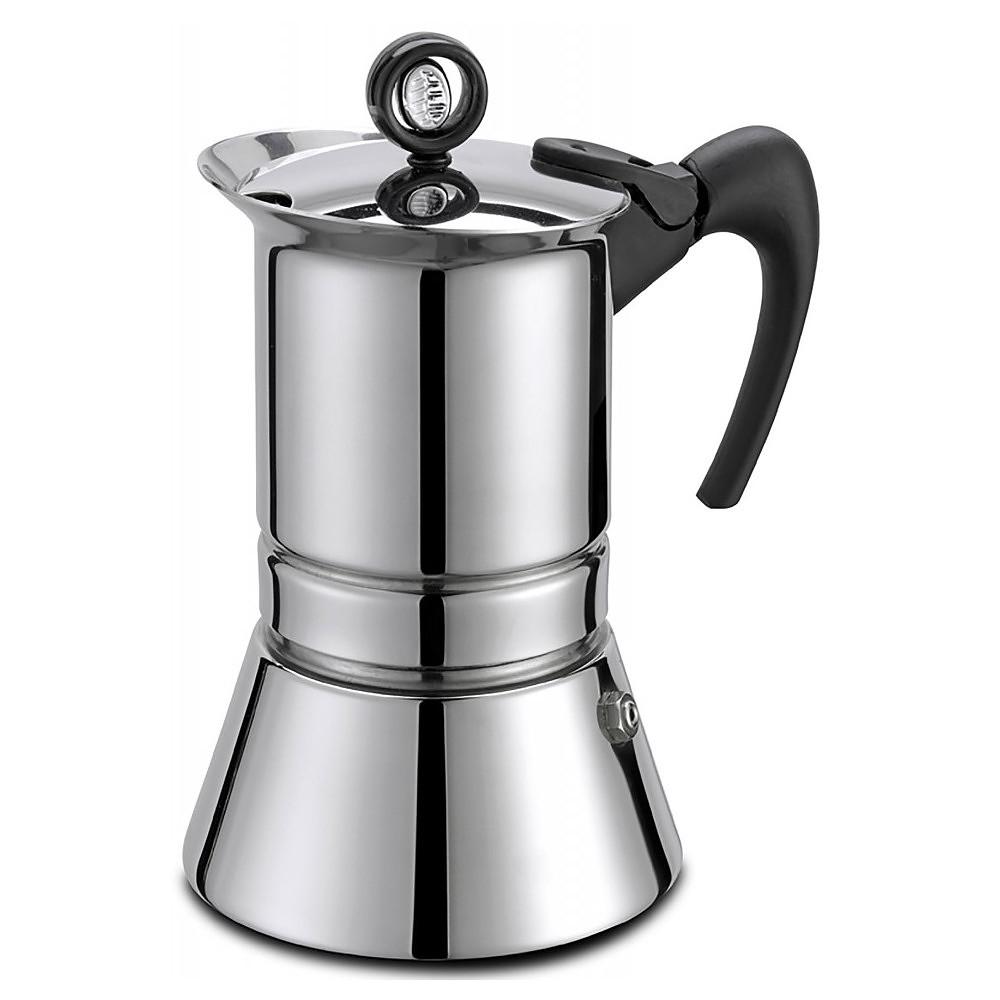 Image of Kawiarka stalowa ciśnieniowa gat vip inox - kafetiera na 6 filiżanek espresso
