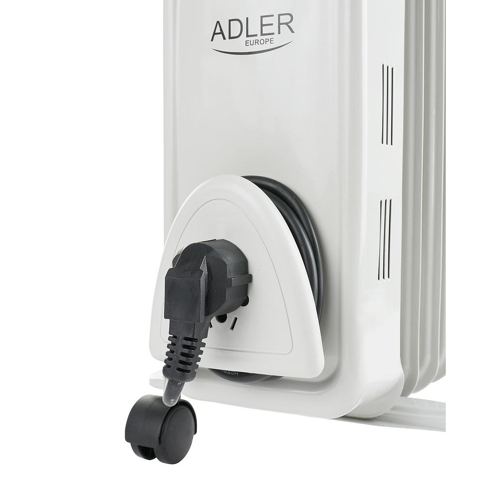 Image of Grzejnik olejowy elektryczny metalowy adler hot biały 2000 w