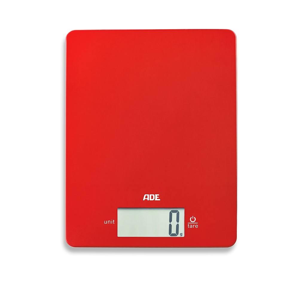 Image of Waga kuchenna elektroniczna plastikowa ade leonie czerwona