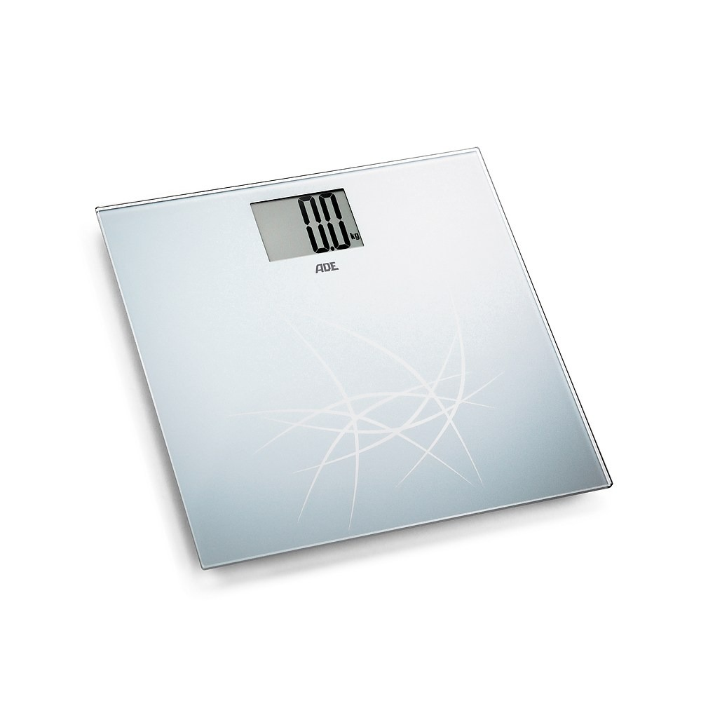 Image of Waga łazienkowa elektroniczna szklana ade lotta 30 × 30 cm