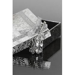 Naszyjnik  kryształowa koniczynka | biżuteria czterolistna  koniczynka