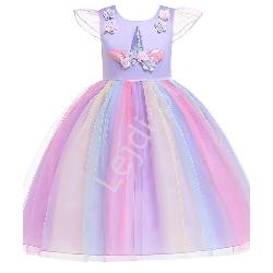 Fioletowa sukienka jednorożec dla dziewczynki 003