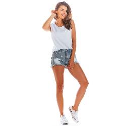 Biała oversizowa bluzka -top