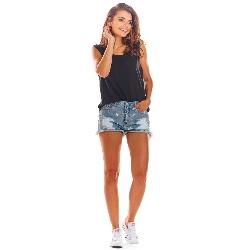 Czarna oversizowa bluzka -top