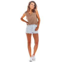 Beżowa oversizowa bluzka -top