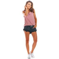 Różowa oversizowa bluzka -top