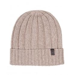 Ciepła czapka profuomo w kolorze jasnobeżowym
