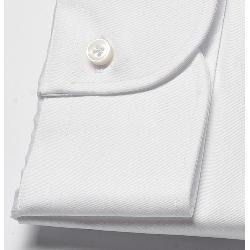 Elegancka biała koszula męska taliowana (slim fit), mankiety na guziki 37