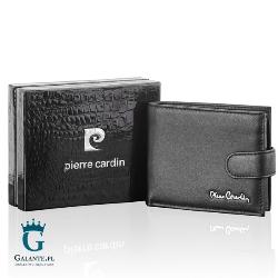 Mały portfel męski zapinany na zatrzask pierre cardin 323a