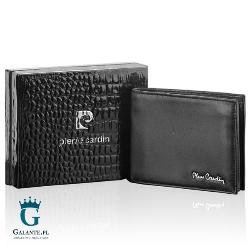 Czarny portfel męski pierre cardin tilak09 8824